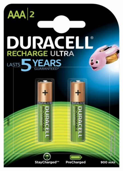 Duracell Recharge Ultra AAA Akku Ready to Use 900 mAh Blister 2
