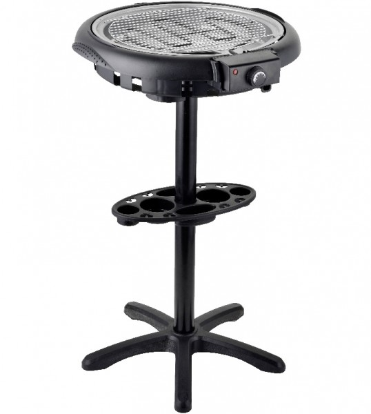 2in1 Elektrogrill Barbecue BBQ Standgrill Grill Rundgrill