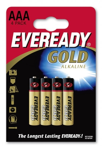 Eveready Alkaline Gold LR03-AAA-Micro - 4er Blister