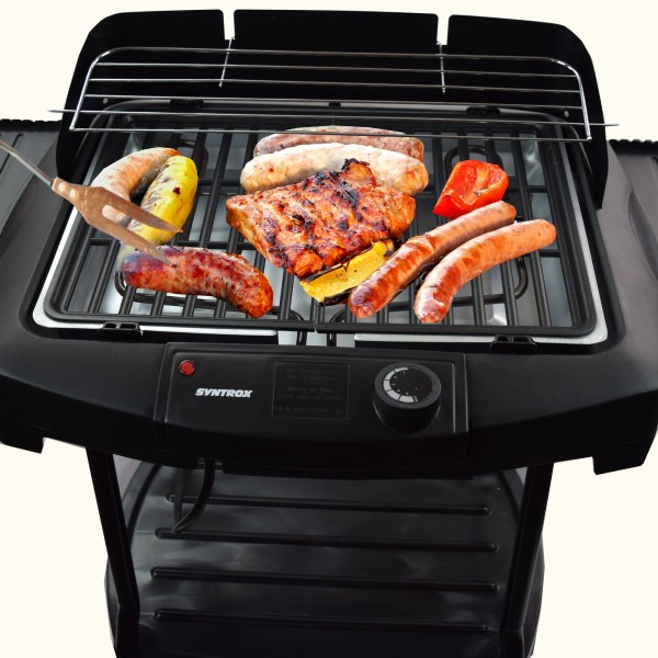2in1 Elektrogrill Barbecue BBQ Standgrill Grill