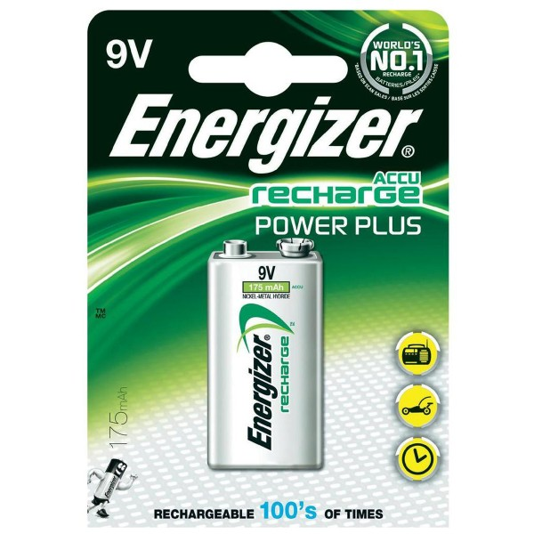 Energizer - Power Plus 9V Block NiMh 8,4 Volt 175mAh Akku
