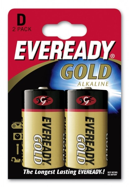 Eveready Alkaline Gold LR20-D-Mono - 2er Blister